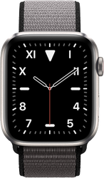 Apple Watch Series 5 44mm (Unlocked) [A2095 Cellular], Titanium - Black