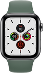 Apple Watch Series 5 44mm (Unlocked Non-US) [A2157 Non-US Cellular], Stainless Steel - Silver