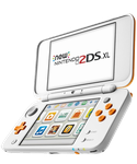 Nintendo 2DS XL - White & Orange, 1 GB