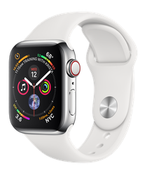 Apple Watch Series 4 40mm (Unlocked) [A1975 - Cellular], Stainless - Silver