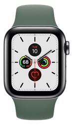 Apple Watch Series 5 40mm (Unlocked) [A2094 Cellular], Stainless Steel - Black