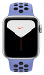 Apple Watch Series 5 40mm (Unlocked Non-US) [A2156 Non-US Cellular], Nike - Silver