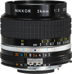 Nikon 24mm f2.0 Nikkor AI-S Manual Focus for sale on Swappa