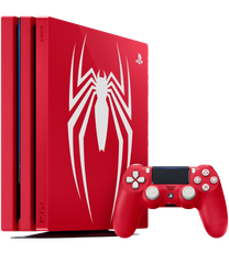 PlayStation 4 Pro, Spider-Man - Red, 1 TB