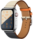Apple Watch Series 4 44mm (Unlocked) [A1976 - Cellular], Hermes - Silver