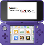 Nintendo 2DS XL - Purple, 1 GB