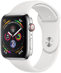 Apple Watch Series 4 44mm (AT&T) [A1976 - Cellular], Stainless - Silver
