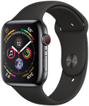 Apple Watch Series 4 44mm (Sprint) [A1976 - Cellular], Stainless - Black