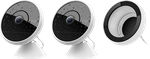 Logitech Circle 2 Home Security Camera, Combo: 2 Wired Cameras + 1 Window Mount