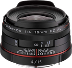 Pentax K-Mount HD DA f4 ED AL 15-15mm Fixed