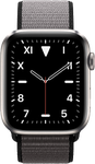 Apple Watch Series 5 44mm (Unlocked Non-US) [A2157 Non-US Cellular], Titanium - Black