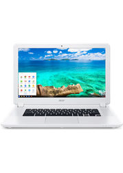 Acer Chromebook 15, 15 - Celeron, White, 16 GB, 4 GB