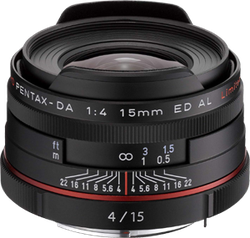 Pentax K-Mount HD DA f4 ED AL 15-15mm Fixed for sale on Swappa