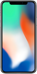 Apple iPhone X (AT&T) [A1901], GSM - Silver, 64 GB