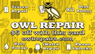 Owl Repair Kennesaw iPhone Repair Banner