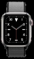 Apple Watch Series 5 40mm (Unlocked) [A2094 Cellular], Titanium - Titanium