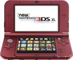 New Nintendo 3DS XL - Red, 1 GB