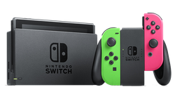 Nintendo Switch - Pink & Green, 32 GB