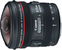 Canon EF 8-15mm f4L Fisheye USM Ultra-Wide Zoom for sale