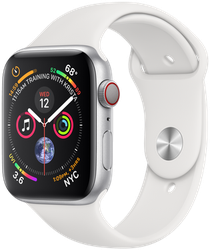 Apple Watch Series 4 44mm (Unlocked) [A1976 - Cellular], Aluminum - Silver