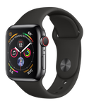 Apple Watch Series 4 40mm (AT&T) [A1975 - Cellular], Stainless - Black