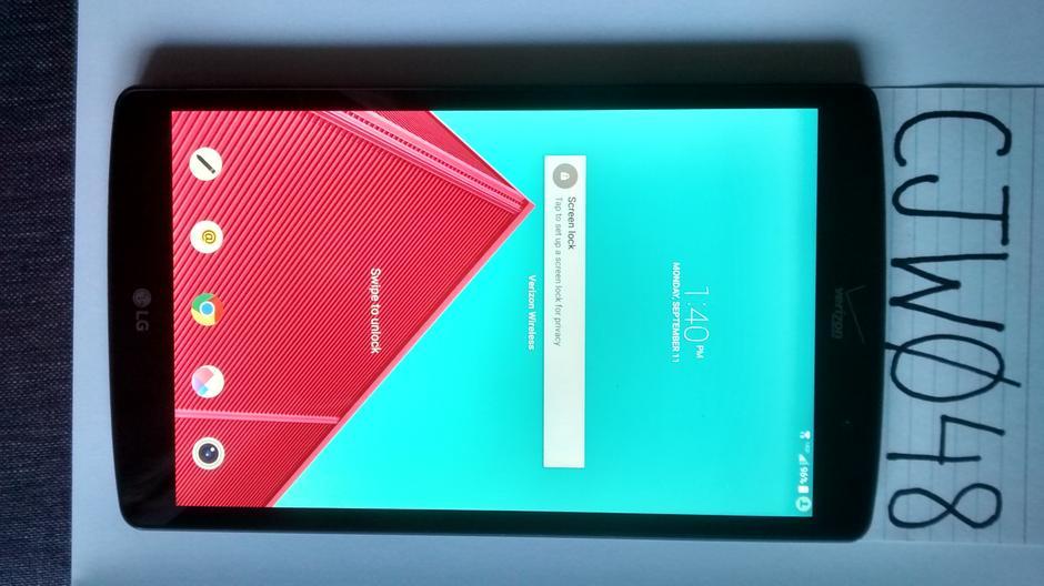 LG G Pad 8 3 (Verizon) For Sale - $75 on Swappa (CJW048)
