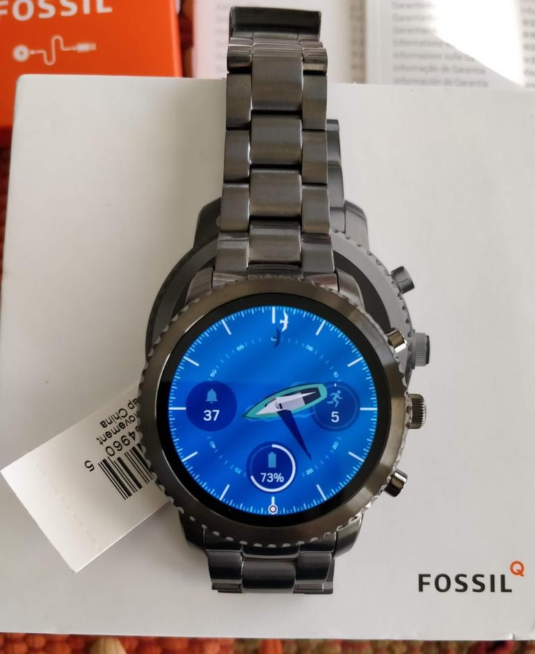 Fossil Machine 3-Hand Date Leather Watch | Resale ...