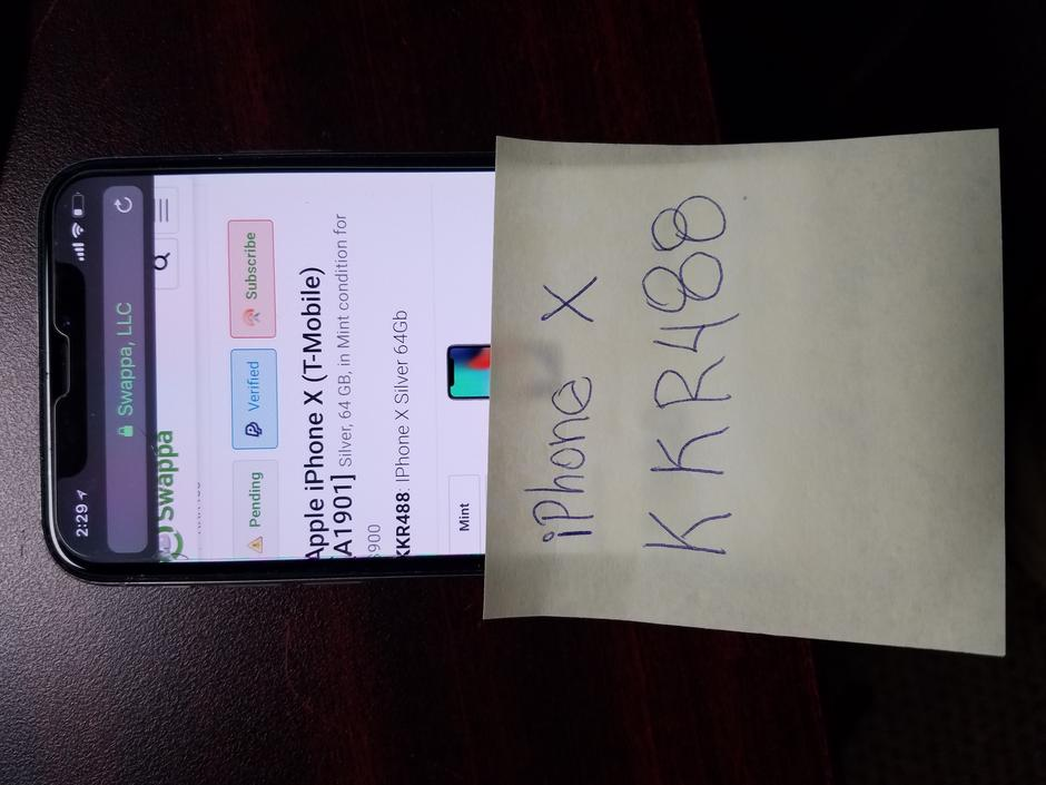 Apple iPhone X (T-Mobile) For Sale - $900 on Swappa (KKR488)