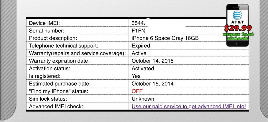 Apple iPhone 6 (Unlocked) For Sale - $489 on Swappa (NQH998)