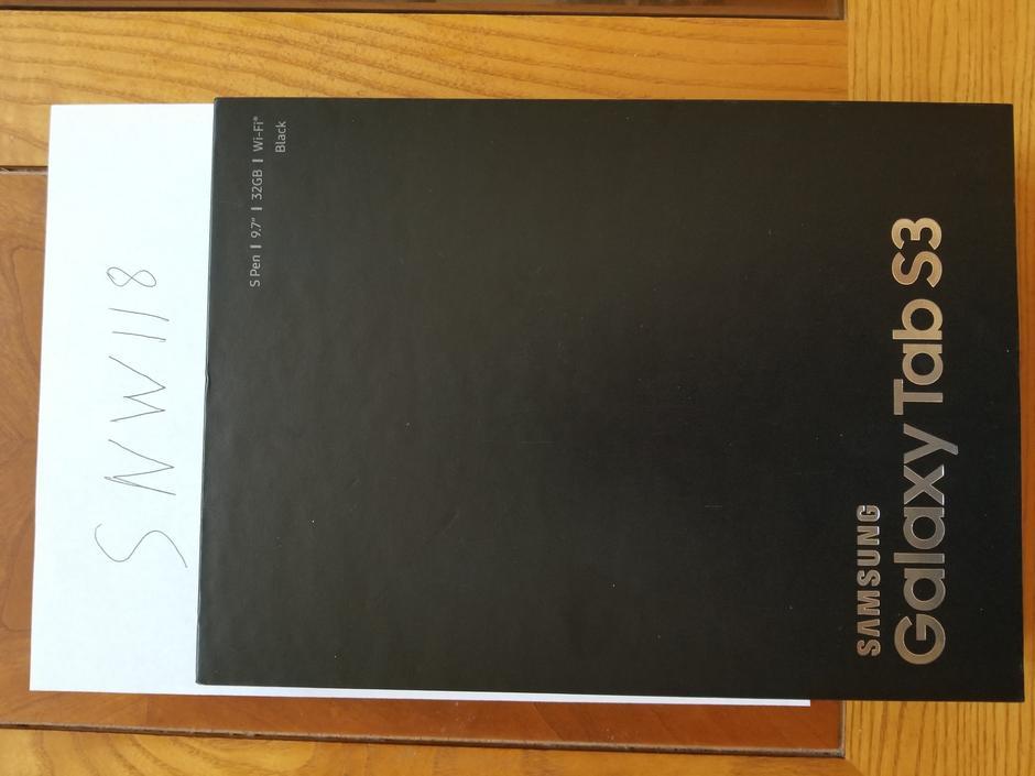 snw118 samsung galaxy tab s3   9 7 wi fi   for sale