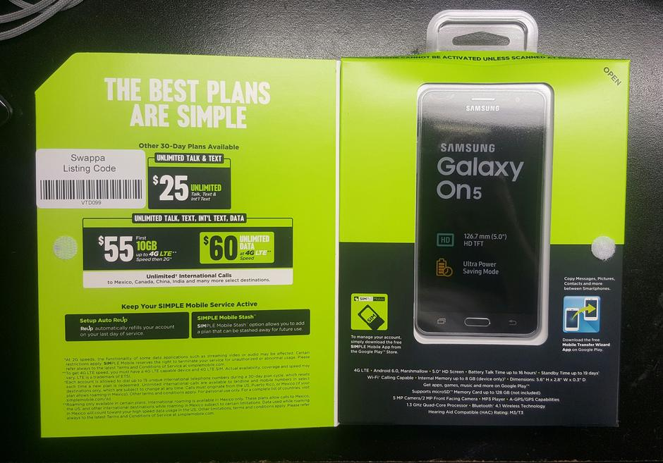 Samsung Galaxy On5 (Other) For Sale - $75 on Swappa (VTD099)