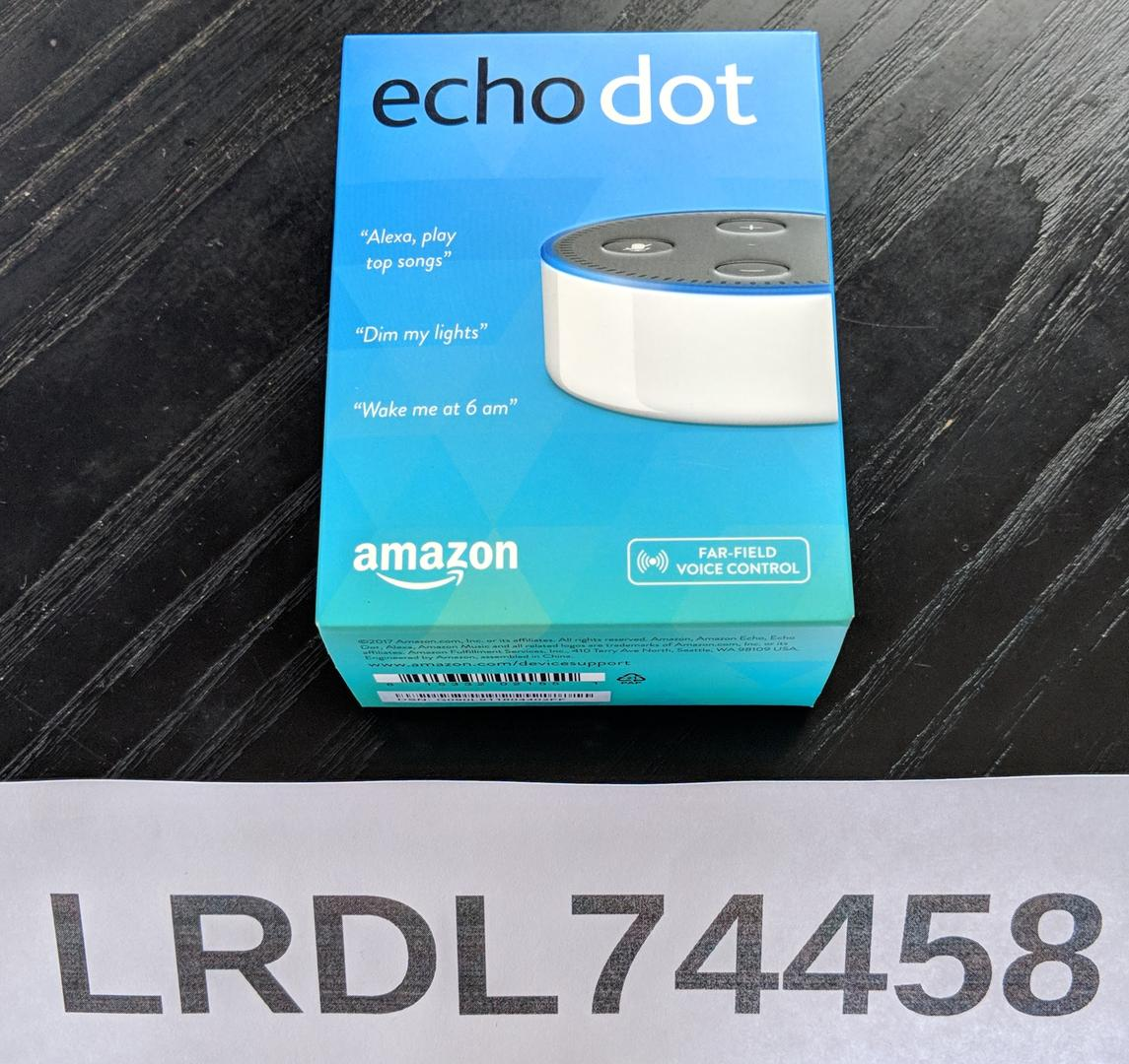 buy amazon echo dot 2nd gen white lrdl74458 swappa