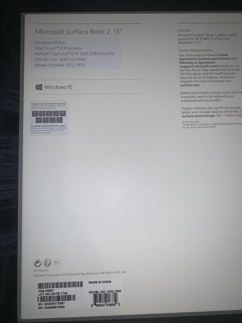 Microsoft Surface Book 2 13 5
