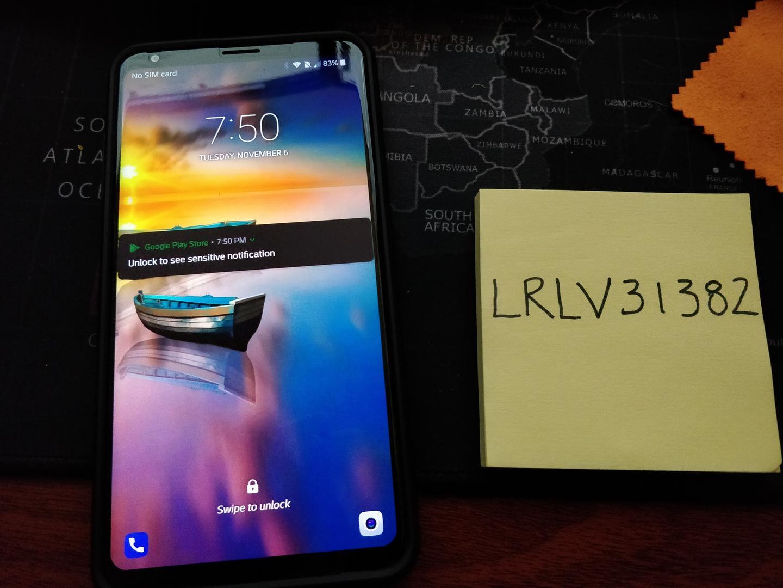 LG V30 (Sprint) [LS998U], Plus - Black, 128 GB
