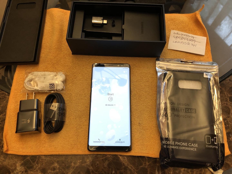 Samsung Galaxy Note 8 (Unlocked) [SM-N950U1] - Black, 64 GB