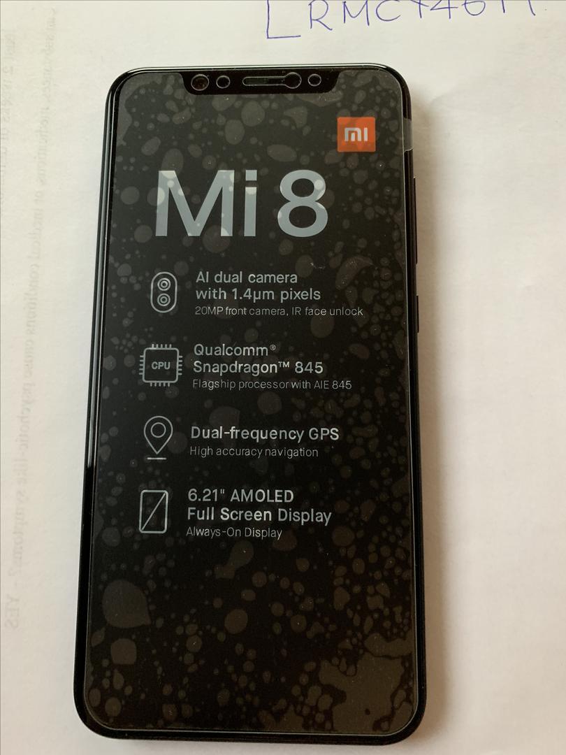 Xiaomi Mi 8 (Unlocked) - Black, 128 GB