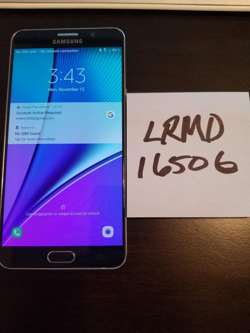 Samsung Galaxy Note 5 (Verizon) [SM-N920V] - Black, 32 GB