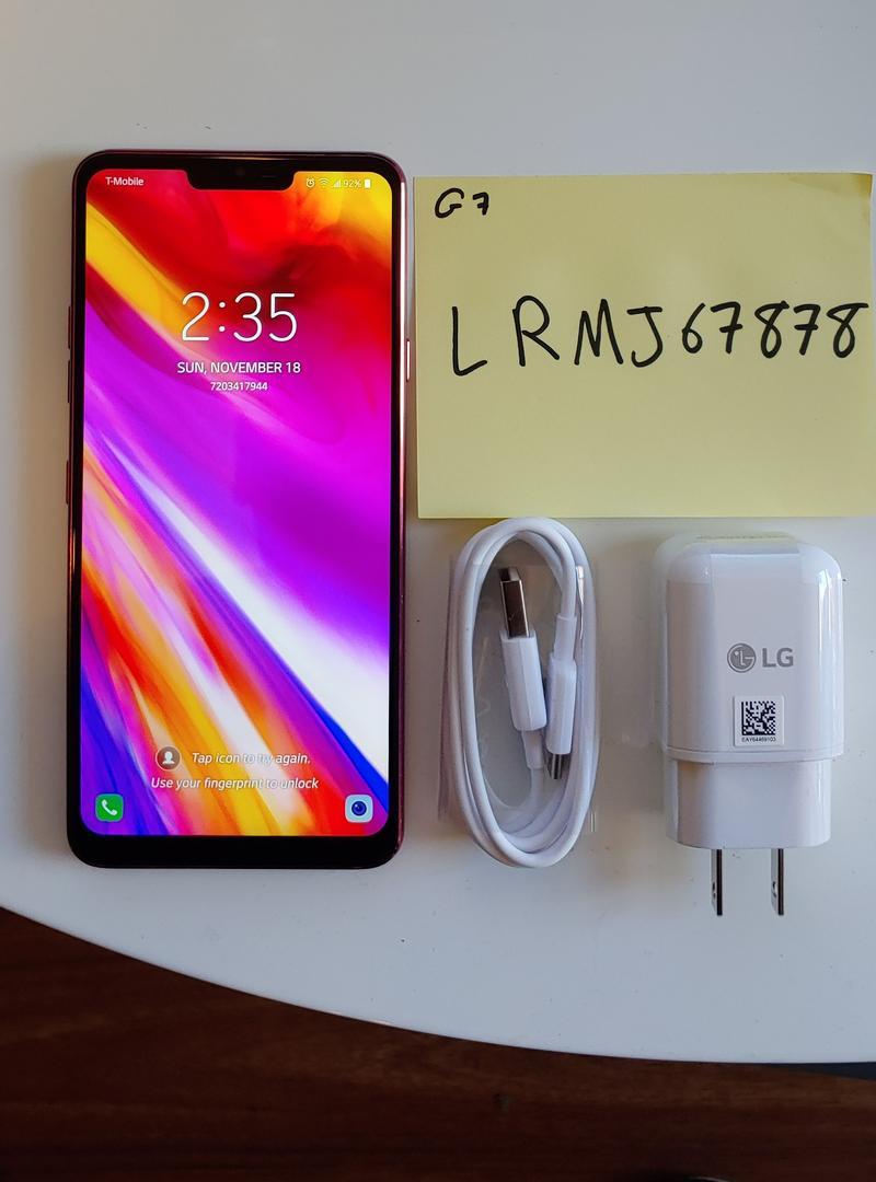 LG G7 ThinQ (T-Mobile) [LM-G710TM] - Pink, 64 GB, 4 GB