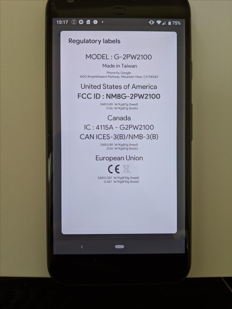 Google Pixel XL (Unlocked), Google Edition - Black, 128 GB, 4 GB