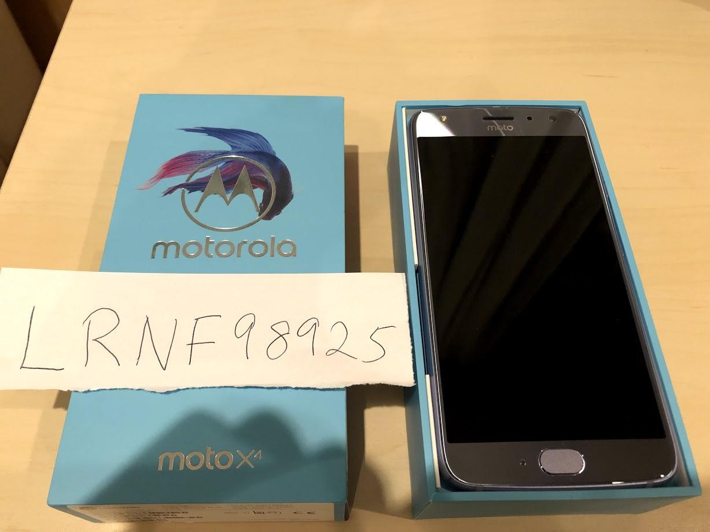 Moto X4 (Unlocked) - Blue, 32 GB, 3 GB