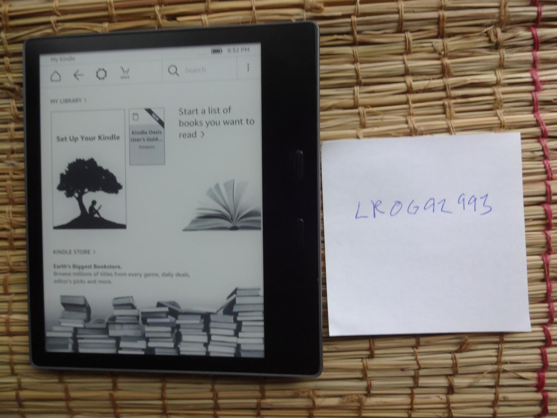 Amazon Kindle Oasis 9th Gen (Wi-Fi) - Gray, 8 GB
