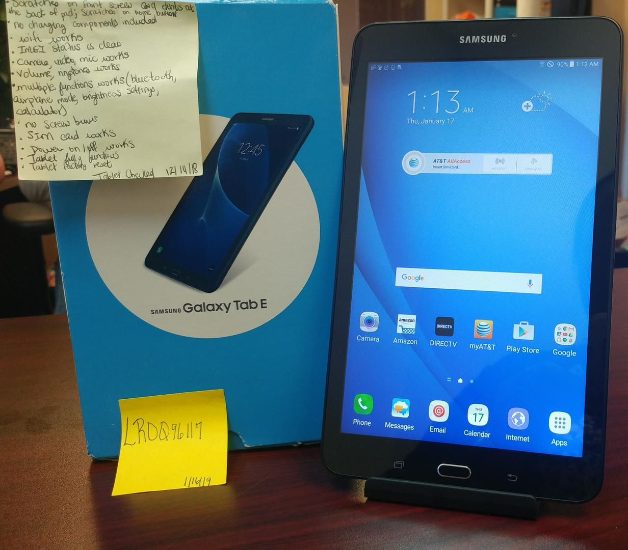 Samsung Galaxy Tab E 8 0 (AT&T) [SM-T377A] - Black, 16 GB