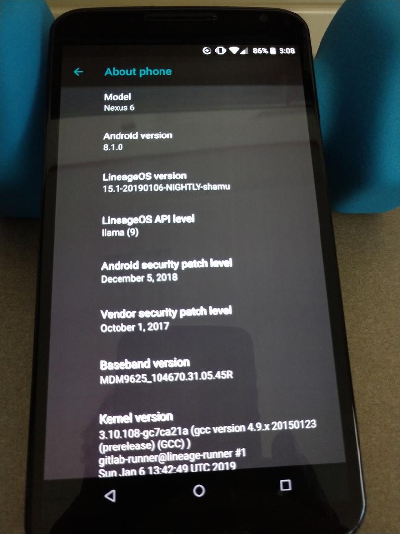 Nexus 6 Android 8