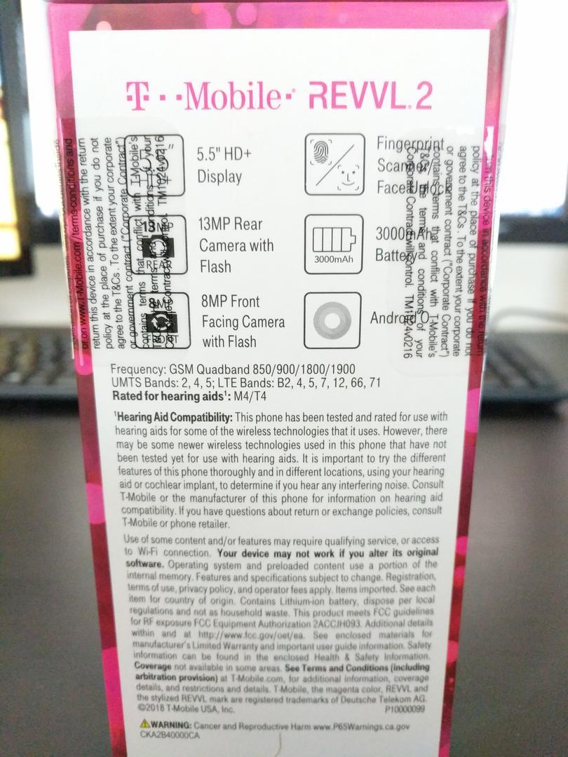 T-Mobile Revvl 2 (T-Mobile) - Black, 32 GB