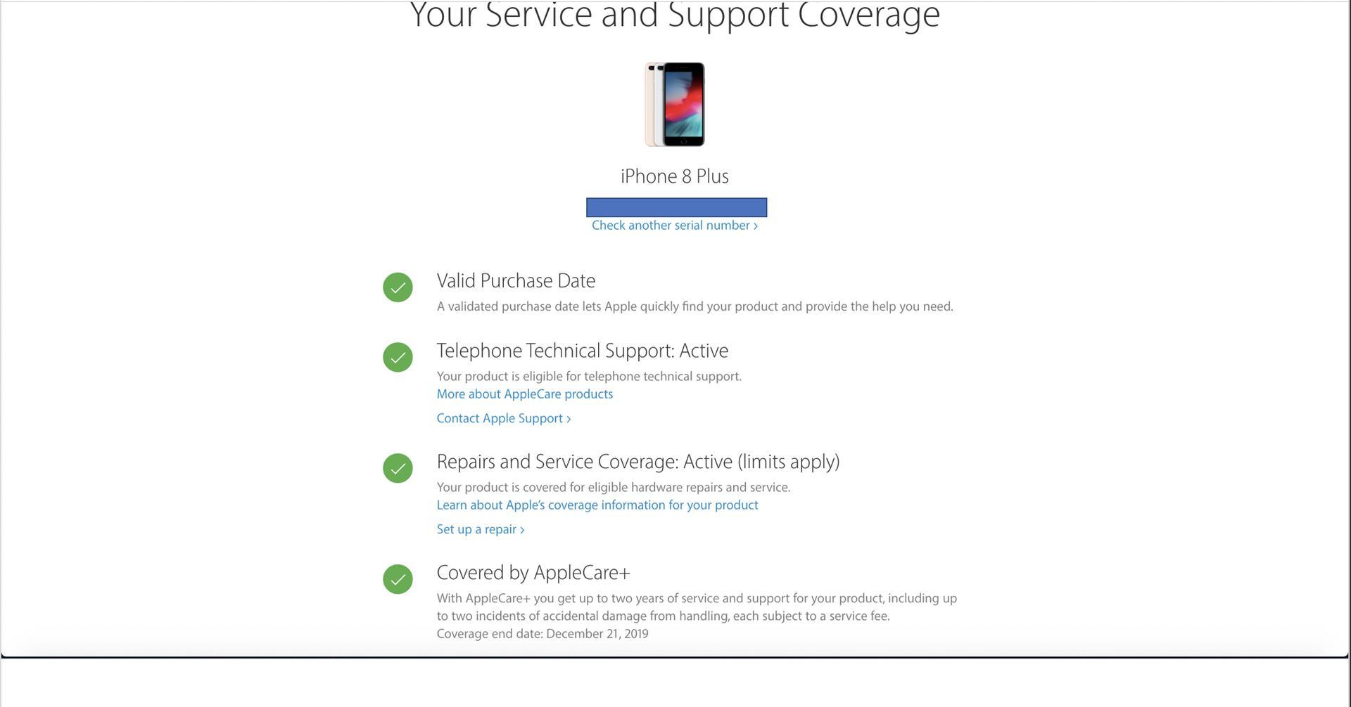 apple care plus coverage