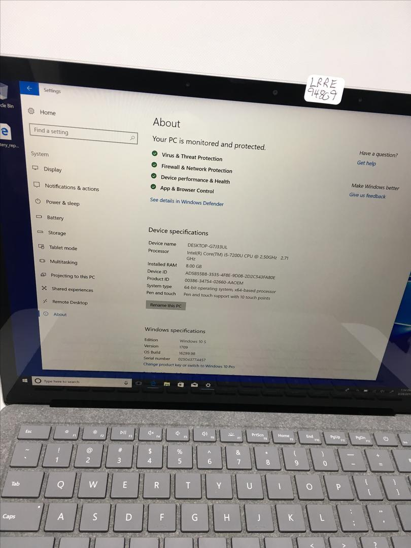 How To Find Serial Number On Laptop Windows 10