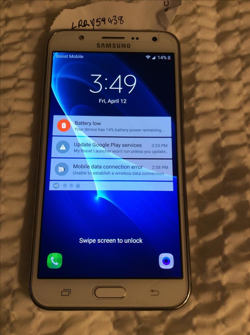 Samsung Galaxy J7 (Boost) - White, 16 GB
