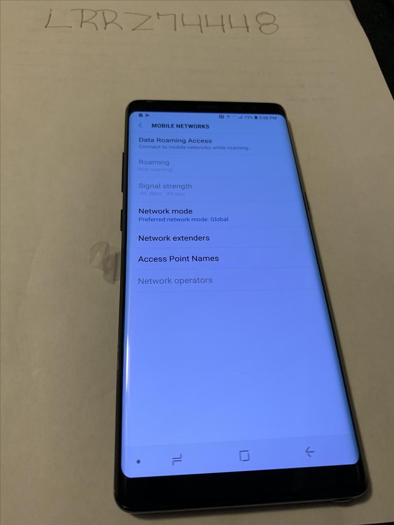 Samsung Galaxy Note 8 (Verizon) [SM-N950U] - Black, 64 GB