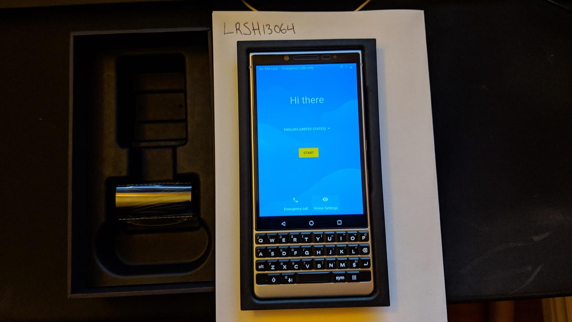 Blackberry Key2 (Unlocked) [BBF100-2] - Silver, 64 GB