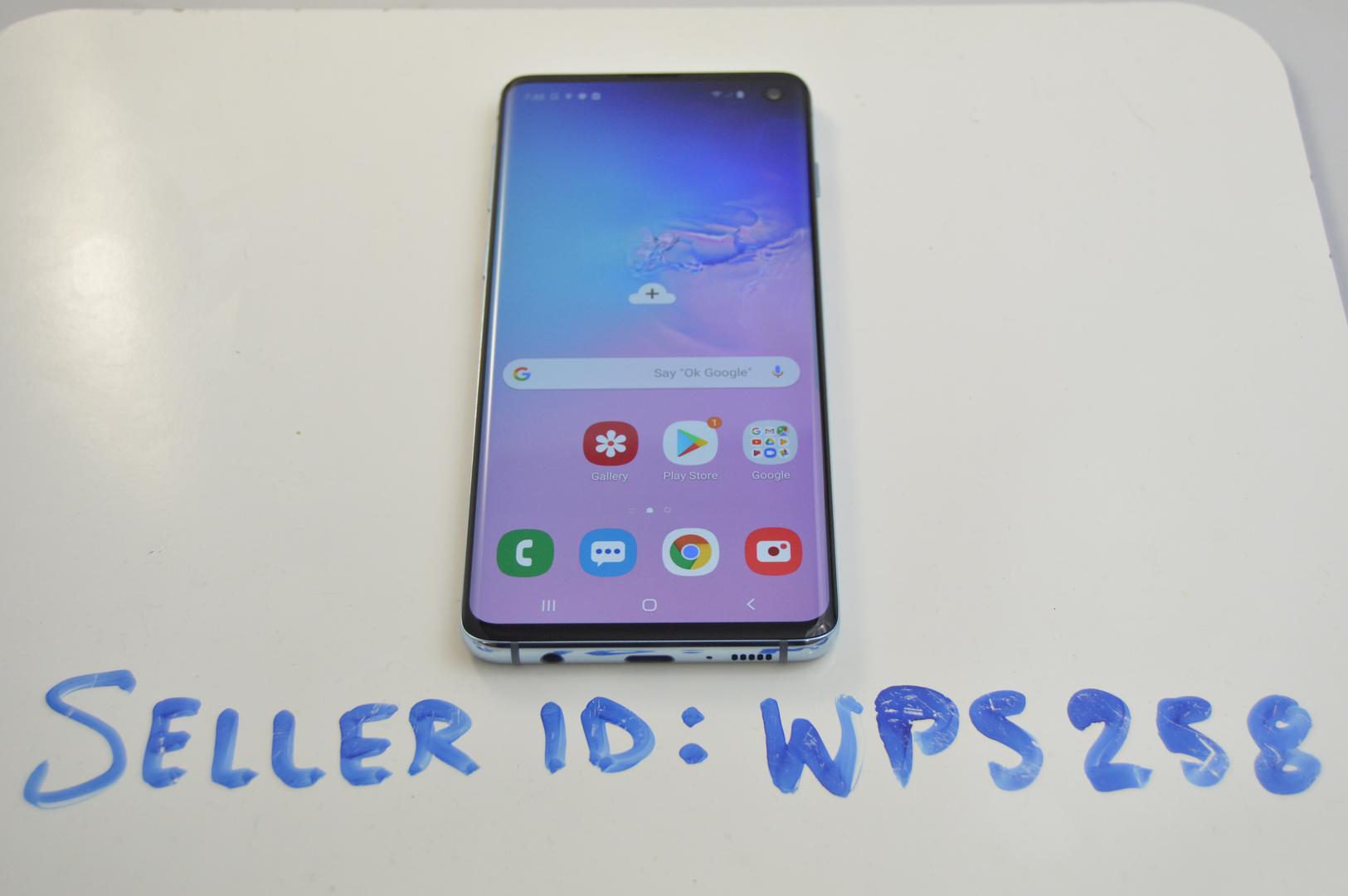 Samsung Galaxy S10 (Unlocked) [SM-G973U1] - Blue, 128 GB, 8 GB